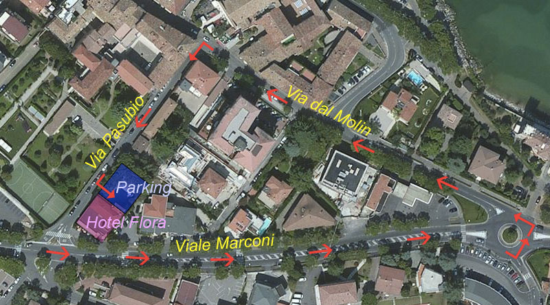 Raggiungere-il-nostro-parcheggio---Raggiungere-l'Hotel-Flora-dai-caselli-autostradali